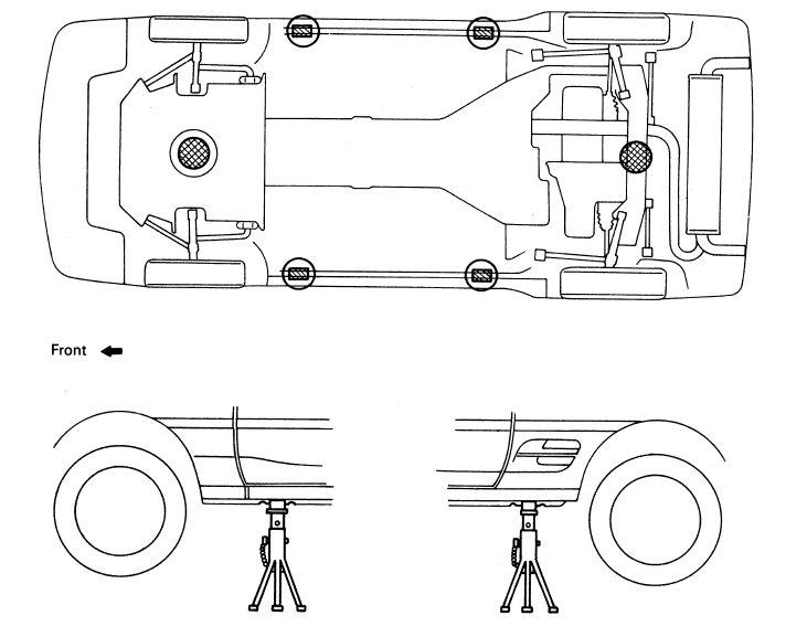 toyota prius spare tire location