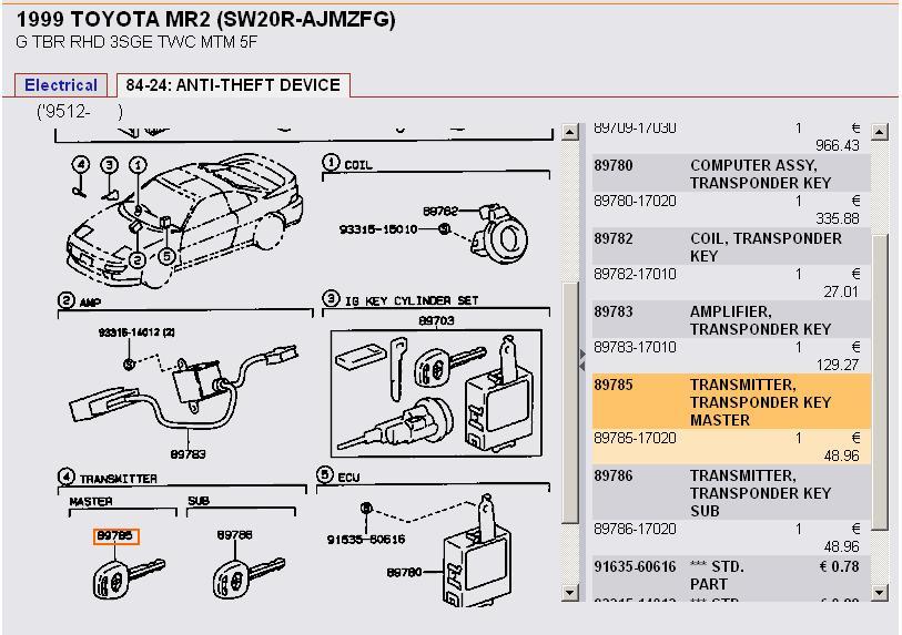 toyota key diagram car fuse box wiring diagram u2022 rh suntse de Toyota Camry Electrical Wiring Diagram Toyota Camry Fuse Box Diagram